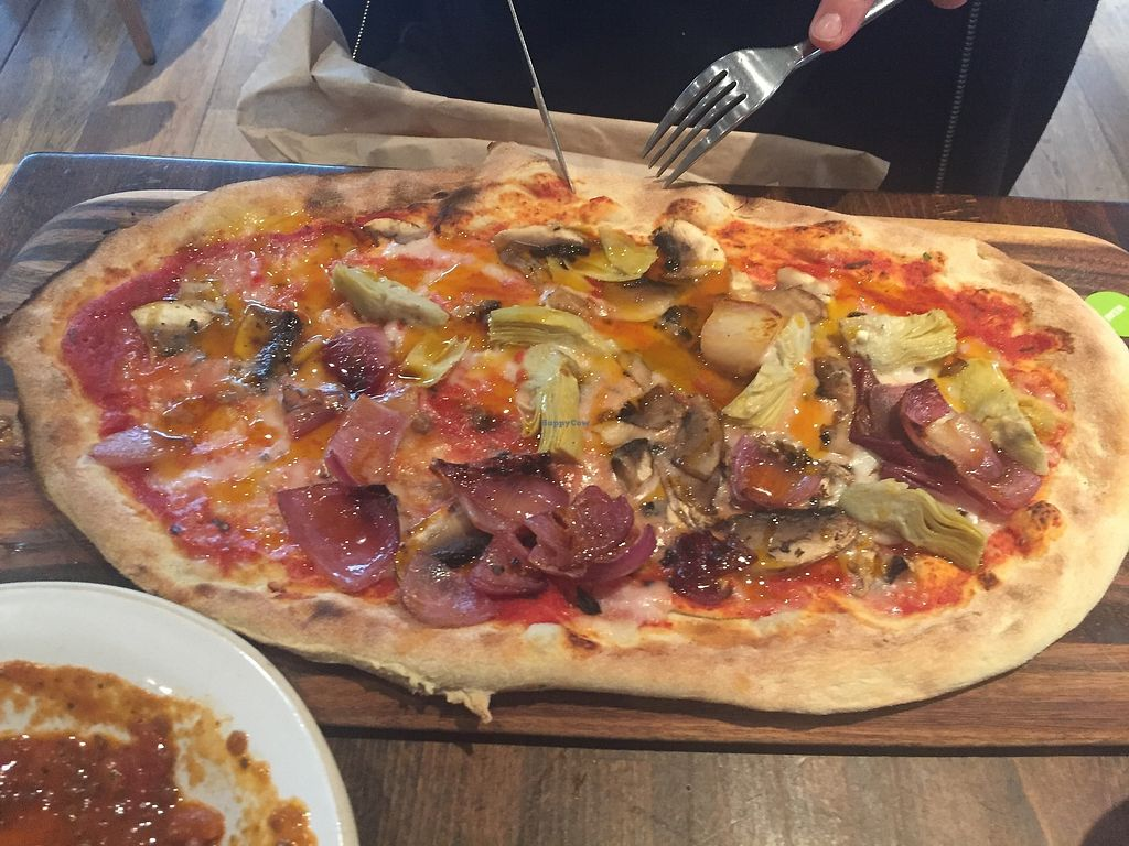 "Photo of Zizzi  by <a href=""/members/profile/TARAMCDONALD"">TARAMCDONALD</a> <br/>Amazing vegan pizza! <br/> July 18, 2017  - <a href='/contact/abuse/image/77405/281934'>Report</a>"