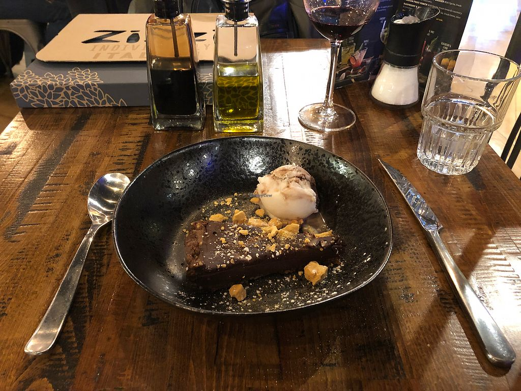 """Photo of Zizzi   by <a href=""""/members/profile/scotteg"""">scotteg</a> <br/>Sticky chocolate & praline torte <br/> February 11, 2018  - <a href='/contact/abuse/image/77413/357933'>Report</a>"""