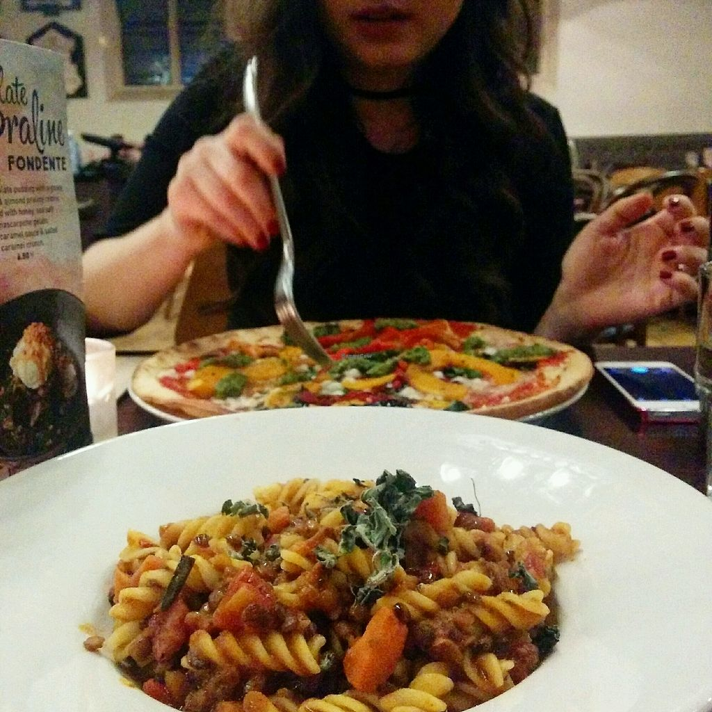"""Photo of Zizzi  by <a href=""""/members/profile/jord_aka"""">jord_aka</a> <br/>New gluten free lentil ragu and vegan Zucca pizza <br/> January 14, 2018  - <a href='/contact/abuse/image/77422/346613'>Report</a>"""