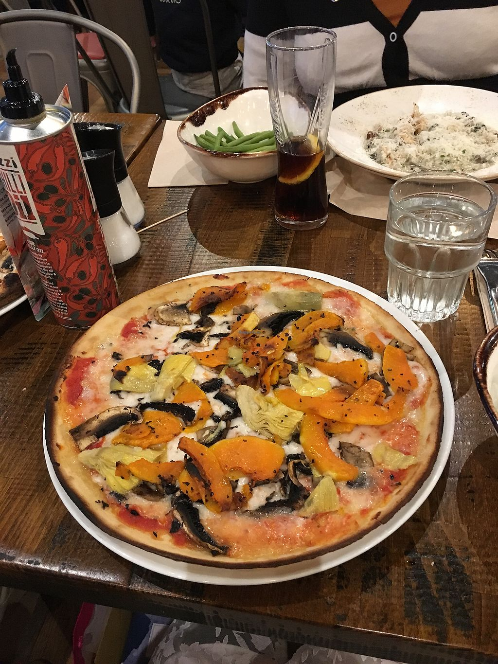 """Photo of Zizzi  by <a href=""""/members/profile/RachelJenkins"""">RachelJenkins</a> <br/>Vegan pizza with butternut squash  <br/> January 30, 2018  - <a href='/contact/abuse/image/77422/352745'>Report</a>"""