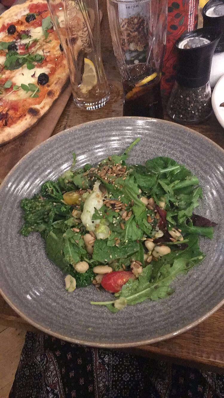 """Photo of Zizzi  by <a href=""""/members/profile/RachelJenkins"""">RachelJenkins</a> <br/>Green Goddess salad with broccoli <br/> January 30, 2018  - <a href='/contact/abuse/image/77422/352746'>Report</a>"""