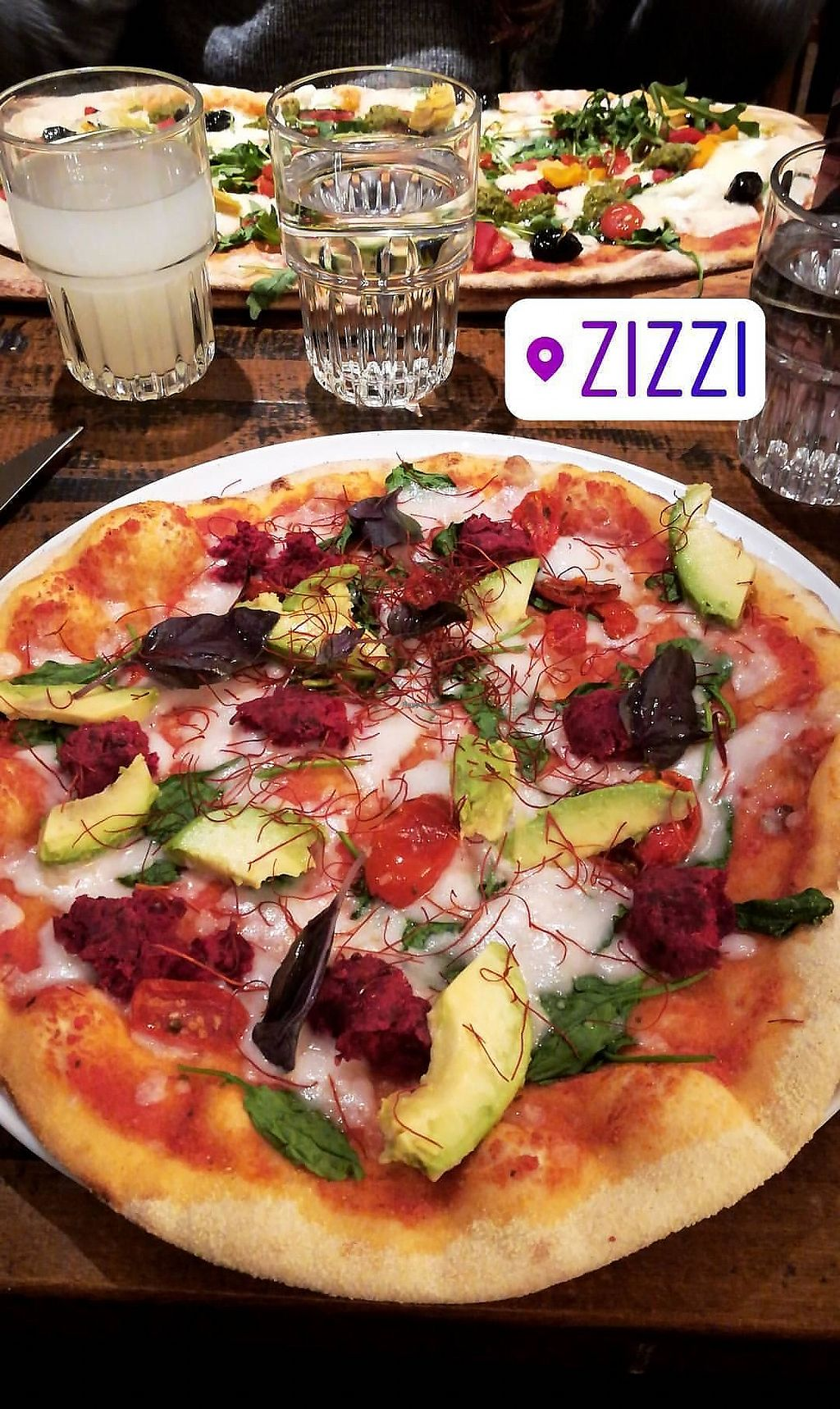 """Photo of Zizzi - Roxburgh Court  by <a href=""""/members/profile/Jeyjess"""">Jeyjess</a> <br/>Pizza arcobaleno with vegan cheese  <br/> January 27, 2018  - <a href='/contact/abuse/image/77440/351654'>Report</a>"""