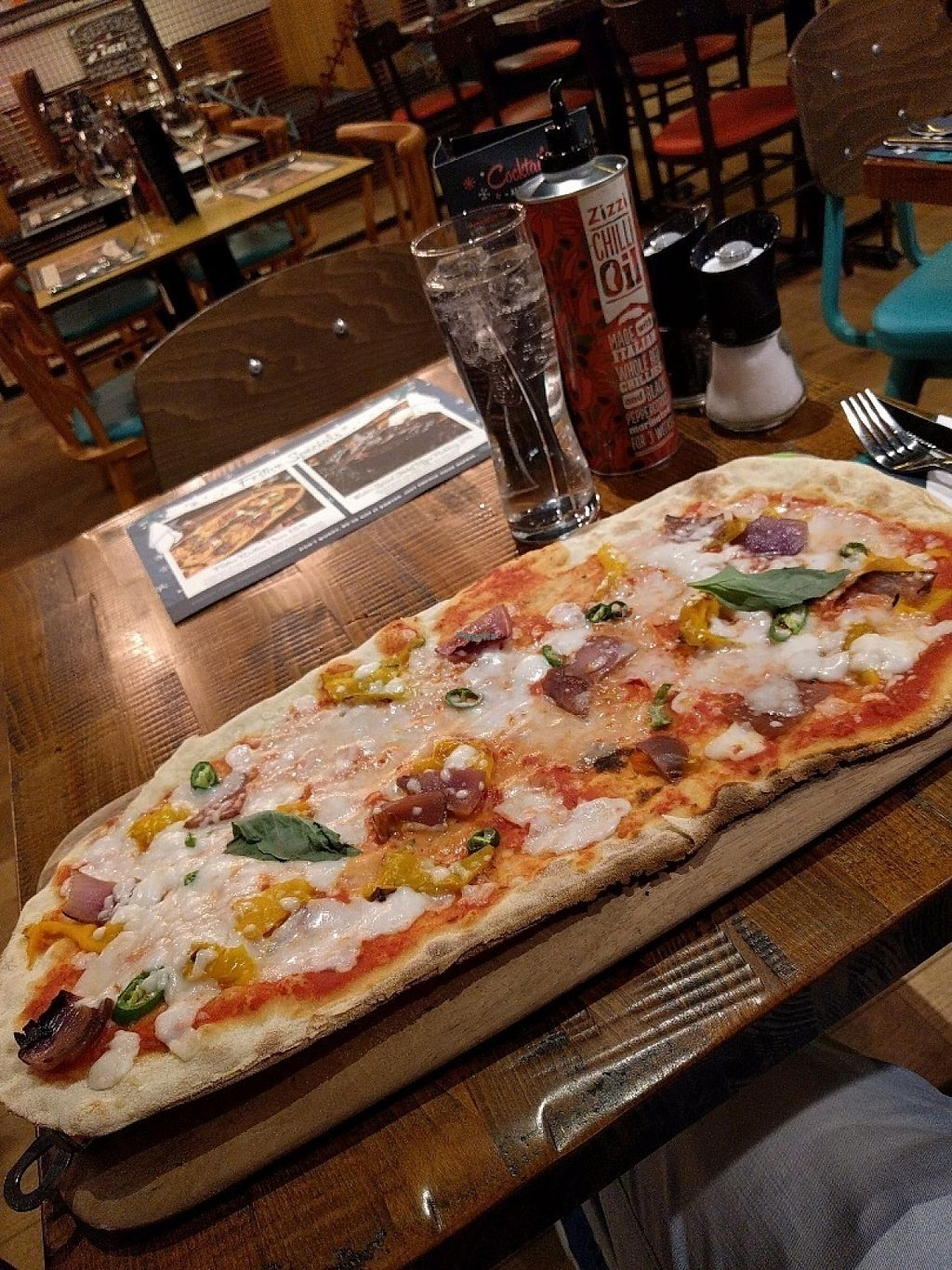 "Photo of Zizzi - Dundrum Town Centre  by <a href=""/members/profile/lukegjpotter"">lukegjpotter</a> <br/>Zizzi's Vegan Rustica Margarita. Toppings: Red Onions, Green Chillies and Roasted Peppers.