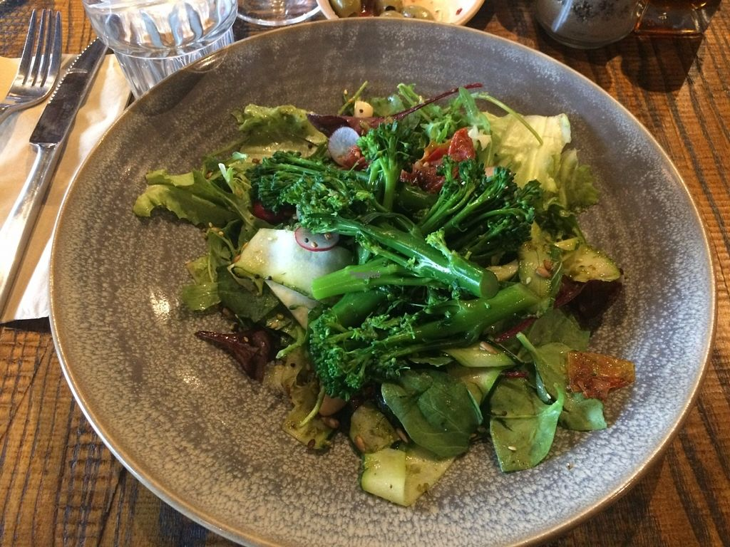 """Photo of Zizzi - Bankside  by <a href=""""/members/profile/LisaCupcake"""">LisaCupcake</a> <br/>The Green Goddess broccoli salad <br/> October 31, 2016  - <a href='/contact/abuse/image/77477/185607'>Report</a>"""