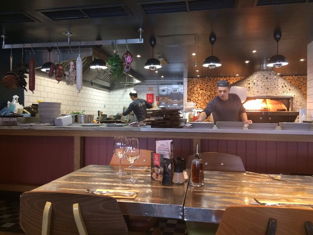 """Photo of Zizzi - Bankside  by <a href=""""/members/profile/LisaCupcake"""">LisaCupcake</a> <br/>Open kitchen <br/> October 31, 2016  - <a href='/contact/abuse/image/77477/185610'>Report</a>"""