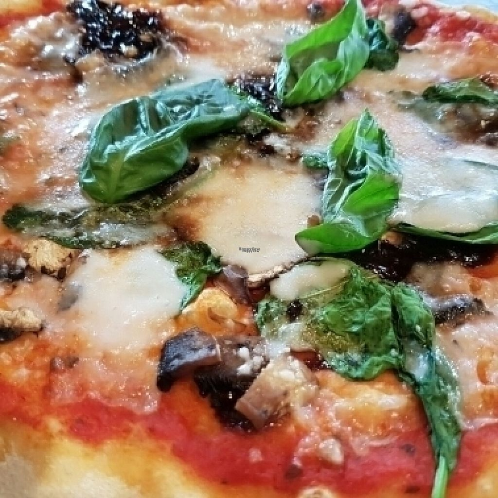 """Photo of Zizzi - Uxbridge  by <a href=""""/members/profile/Good%20for%20Vegans"""">Good for Vegans</a> <br/>Pizza with vegan cheese  <br/> August 14, 2016  - <a href='/contact/abuse/image/77504/168582'>Report</a>"""