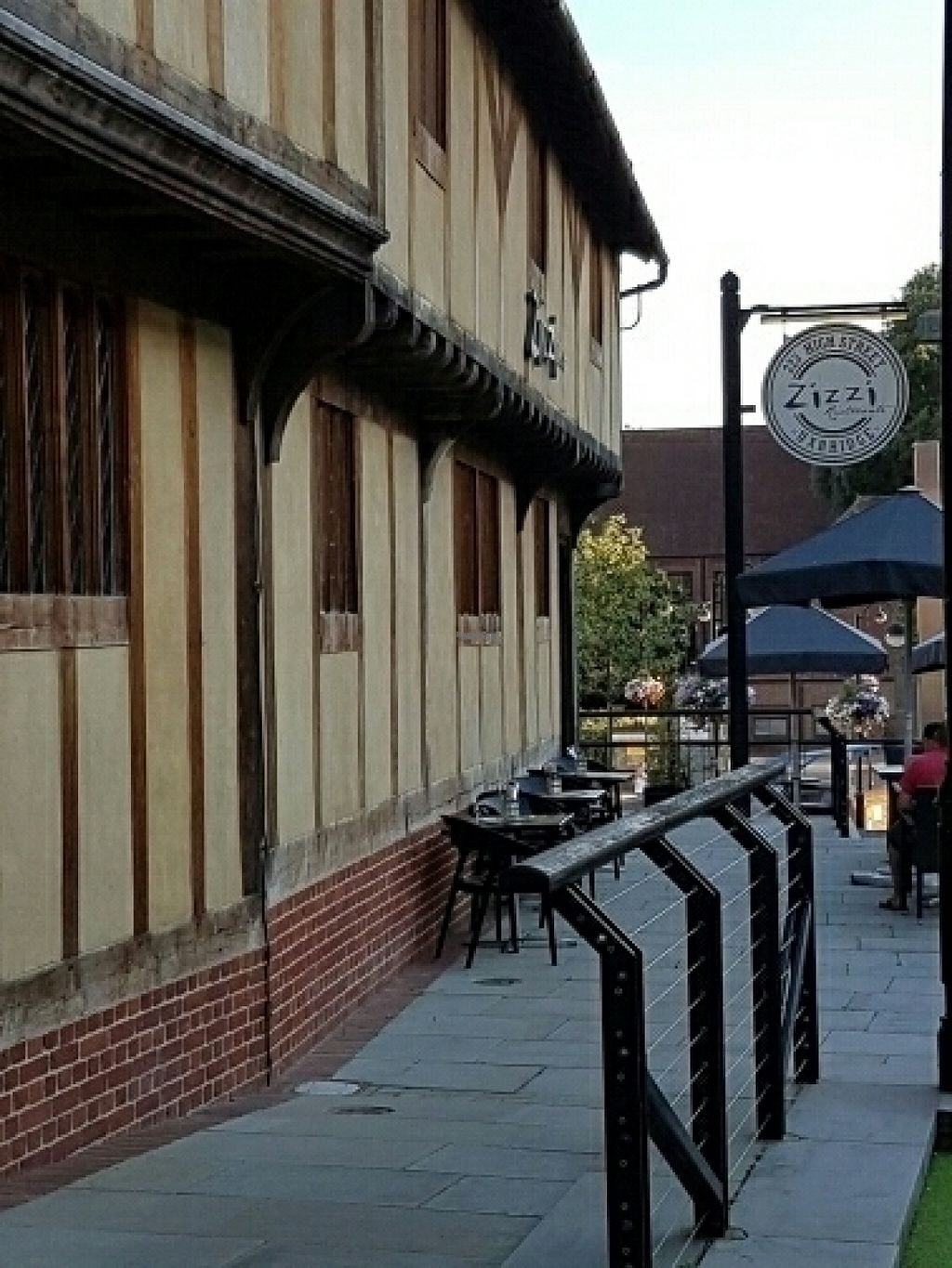 """Photo of Zizzi - Uxbridge  by <a href=""""/members/profile/Good%20for%20Vegans"""">Good for Vegans</a> <br/>Outside <br/> August 14, 2016  - <a href='/contact/abuse/image/77504/168590'>Report</a>"""