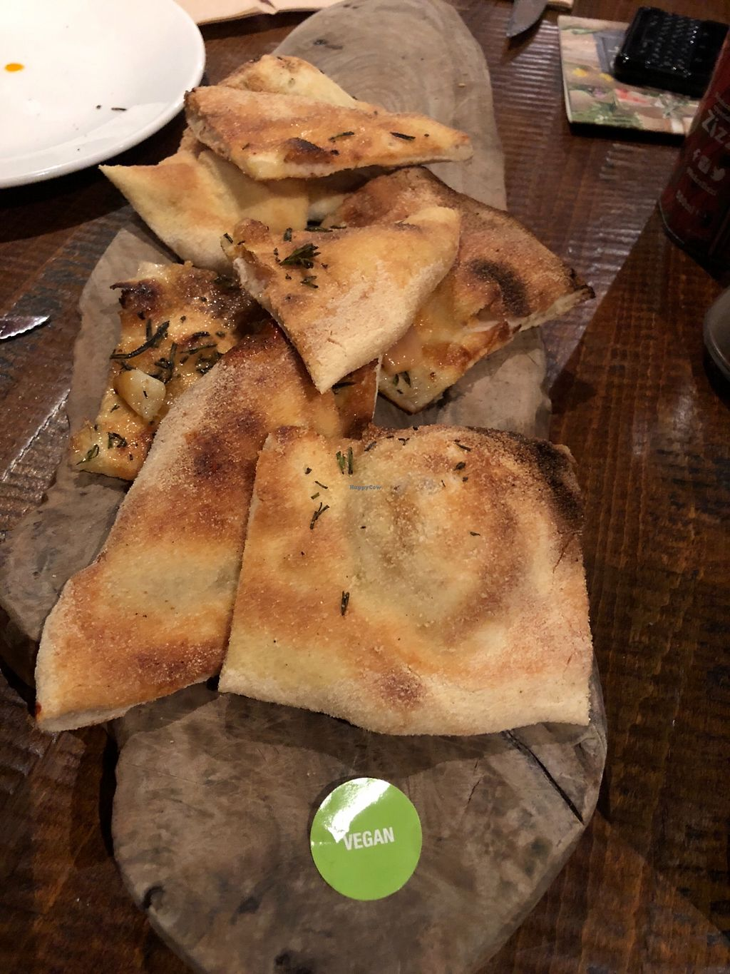 "Photo of Zizzi  by <a href=""/members/profile/TARAMCDONALD"">TARAMCDONALD</a> <br/>Vegan garlic bread  <br/> March 19, 2018  - <a href='/contact/abuse/image/77510/373085'>Report</a>"