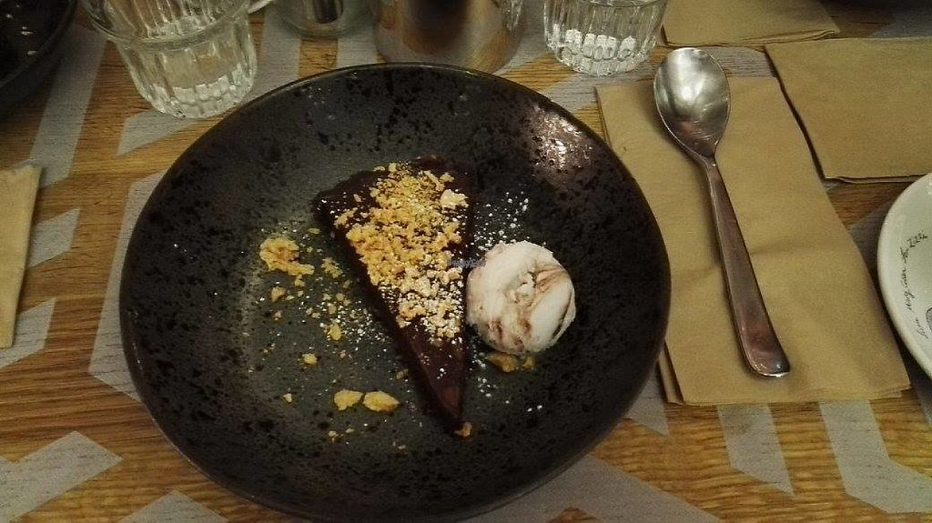 """Photo of Zizzi - King St  by <a href=""""/members/profile/Alleywaycat"""">Alleywaycat</a> <br/>STICKY CHOCOLATE & PRALINE TORTE <br/> April 26, 2017  - <a href='/contact/abuse/image/77513/252723'>Report</a>"""