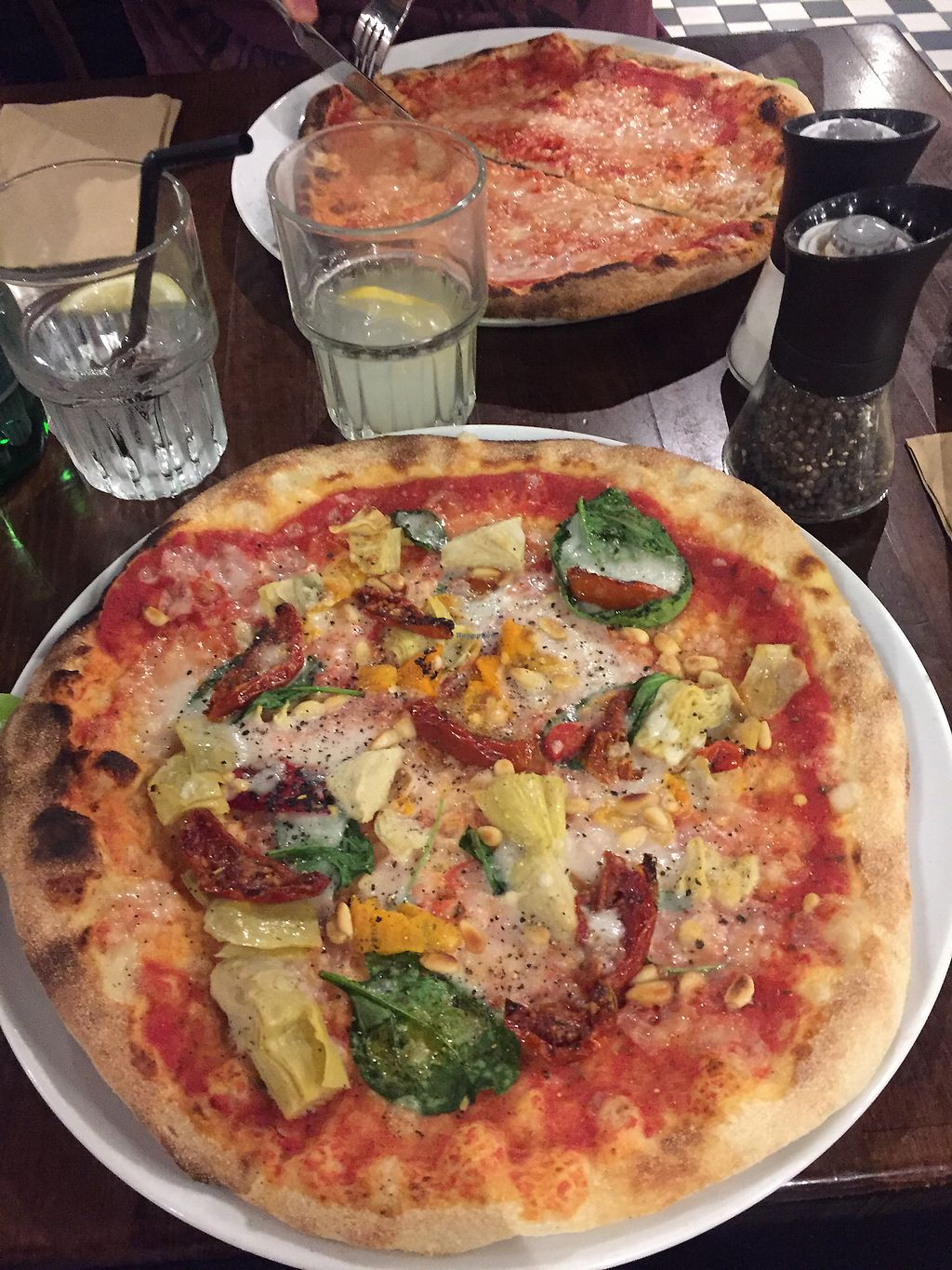 """Photo of Zizzi - Trafford Centre  by <a href=""""/members/profile/LaurenleaA"""">LaurenleaA</a> <br/>vegan pizza  <br/> July 31, 2017  - <a href='/contact/abuse/image/77516/287251'>Report</a>"""