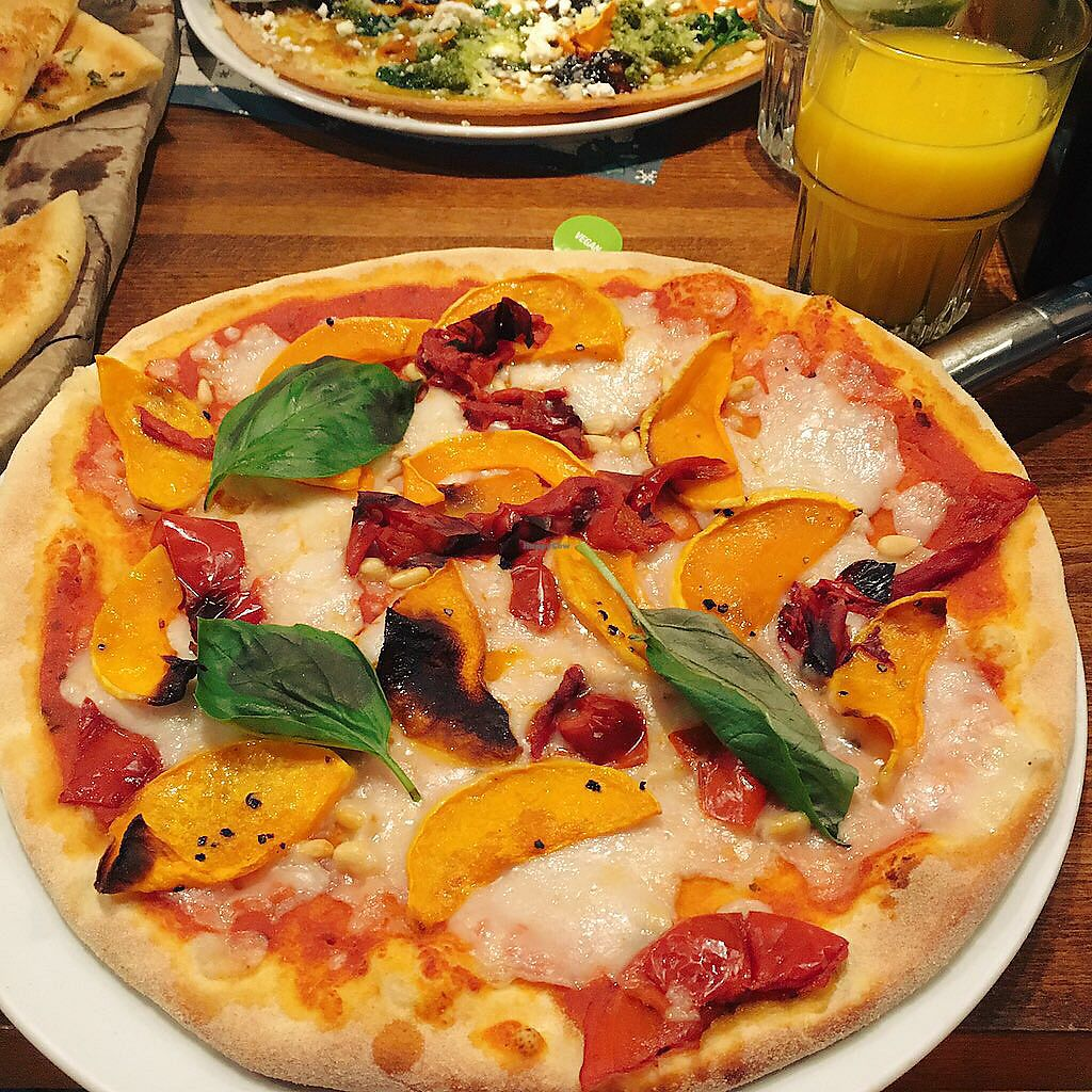 """Photo of Zizzi  by <a href=""""/members/profile/EdenGasson"""">EdenGasson</a> <br/>vegan cheese pizza  <br/> July 16, 2017  - <a href='/contact/abuse/image/77517/281104'>Report</a>"""