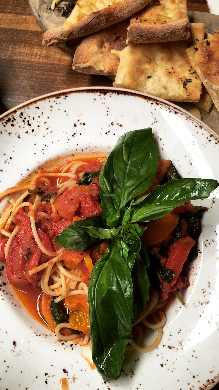 """Photo of Zizzi  by <a href=""""/members/profile/EdenGasson"""">EdenGasson</a> <br/>vegan pasta  <br/> July 16, 2017  - <a href='/contact/abuse/image/77517/281106'>Report</a>"""