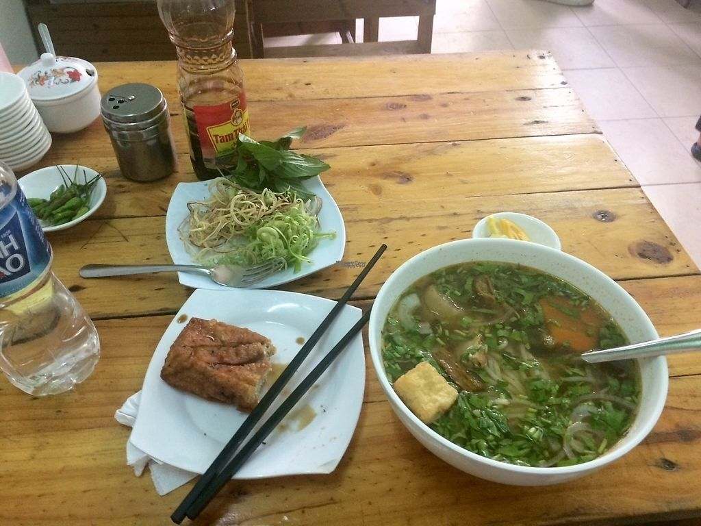 """Photo of A Di Da Phat  by <a href=""""/members/profile/EsmeSayagues"""">EsmeSayagues</a> <br/>Noodle soup and tofu  <br/> April 3, 2017  - <a href='/contact/abuse/image/77535/244265'>Report</a>"""