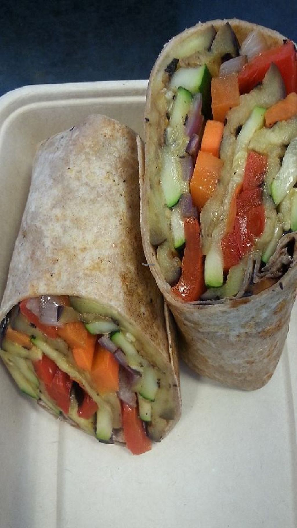 """Photo of The Energy Bar of Long Island  by <a href=""""/members/profile/community"""">community</a> <br/>veggie wrap  <br/> March 30, 2017  - <a href='/contact/abuse/image/77536/242595'>Report</a>"""