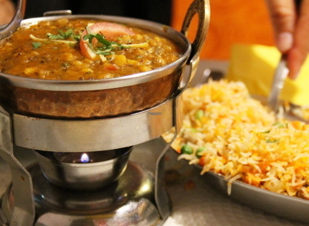 """Photo of Indian Palace  by <a href=""""/members/profile/reissausta%20ja%20ruokaa"""">reissausta ja ruokaa</a> <br/>Dhal and fried rice <br/> August 3, 2016  - <a href='/contact/abuse/image/77542/164903'>Report</a>"""