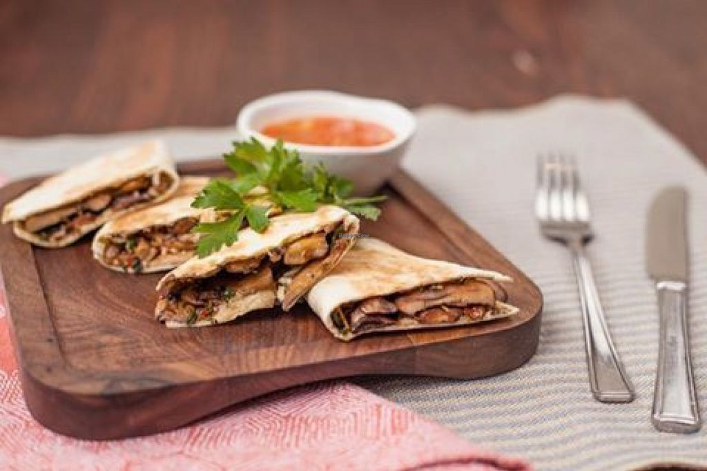 """Photo of Las Iguanas - Meadowhall  by <a href=""""/members/profile/Meaks"""">Meaks</a> <br/>Mushroom Quesadillas <br/> July 29, 2016  - <a href='/contact/abuse/image/77544/163209'>Report</a>"""