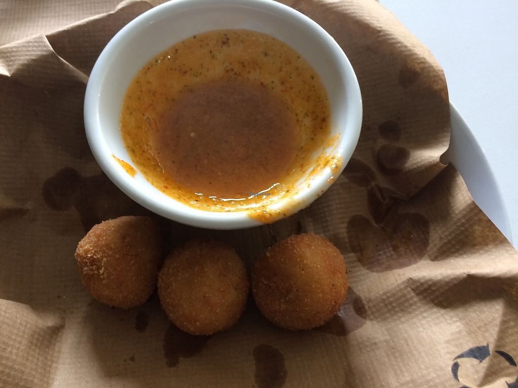 """Photo of Vegano Azul   by <a href=""""/members/profile/mariaig"""">mariaig</a> <br/>Millet croquets, we ate the rest of them, They were delicious, Perfect kid's food <br/> July 21, 2017  - <a href='/contact/abuse/image/77546/282675'>Report</a>"""