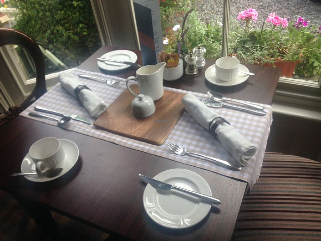 "Photo of The Knoll Country House  by <a href=""/members/profile/JaxB"">JaxB</a> <br/>our table with our own soy milk and dairy free spread <br/> August 2, 2016  - <a href='/contact/abuse/image/77555/164604'>Report</a>"