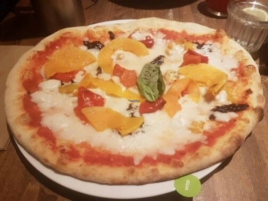 "Photo of Zizzi  by <a href=""/members/profile/JodieRodgers"">JodieRodgers</a> <br/>Vegan pizza <br/> August 15, 2016  - <a href='/contact/abuse/image/77561/168991'>Report</a>"