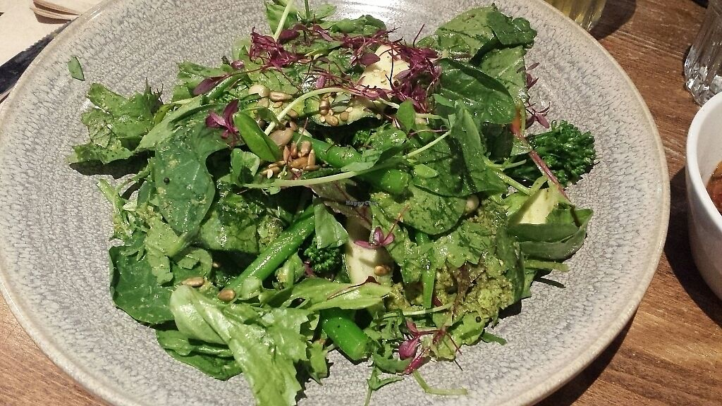 "Photo of Zizzi  by <a href=""/members/profile/LaetitiaSaveTurtles"">LaetitiaSaveTurtles</a> <br/>the Green plate, with fresh salad leaves,  brocolis, cannelini beans, sprouted seeds, pesto <br/> July 10, 2017  - <a href='/contact/abuse/image/77561/278743'>Report</a>"