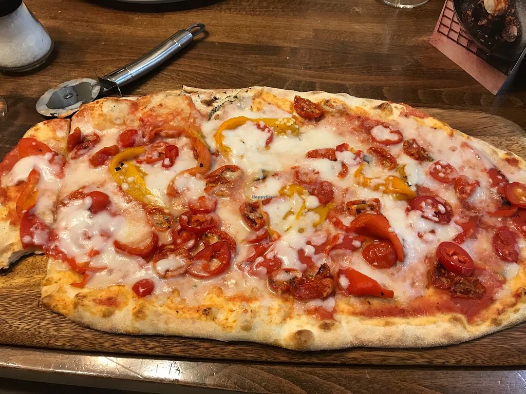 "Photo of Zizzi - Romford  by <a href=""/members/profile/HelenLangridge"">HelenLangridge</a> <br/>Vegan Pepperonata Rustica Pizza <br/> January 20, 2018  - <a href='/contact/abuse/image/77566/348971'>Report</a>"