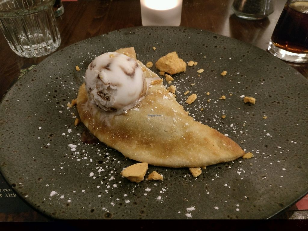 """Photo of Zizzi - Leopold Square  by <a href=""""/members/profile/Meaks"""">Meaks</a> <br/>Dessert Calzone <br/> November 14, 2017  - <a href='/contact/abuse/image/77569/325802'>Report</a>"""
