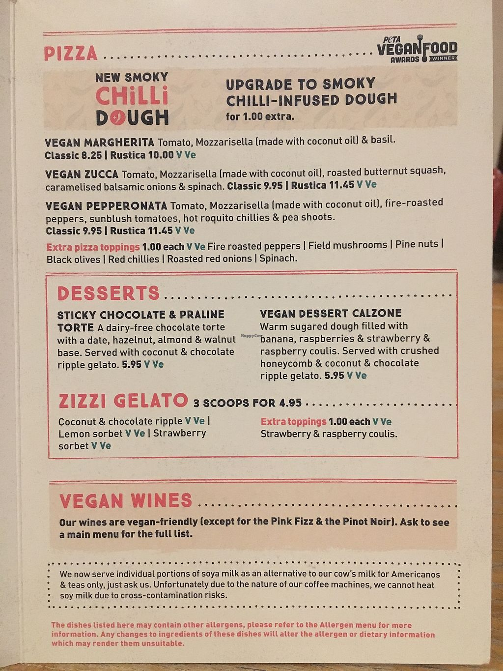 """Photo of Zizzi  by <a href=""""/members/profile/BrandonLongley"""">BrandonLongley</a> <br/>Pizza, desserts, wines <br/> March 13, 2018  - <a href='/contact/abuse/image/77580/370288'>Report</a>"""