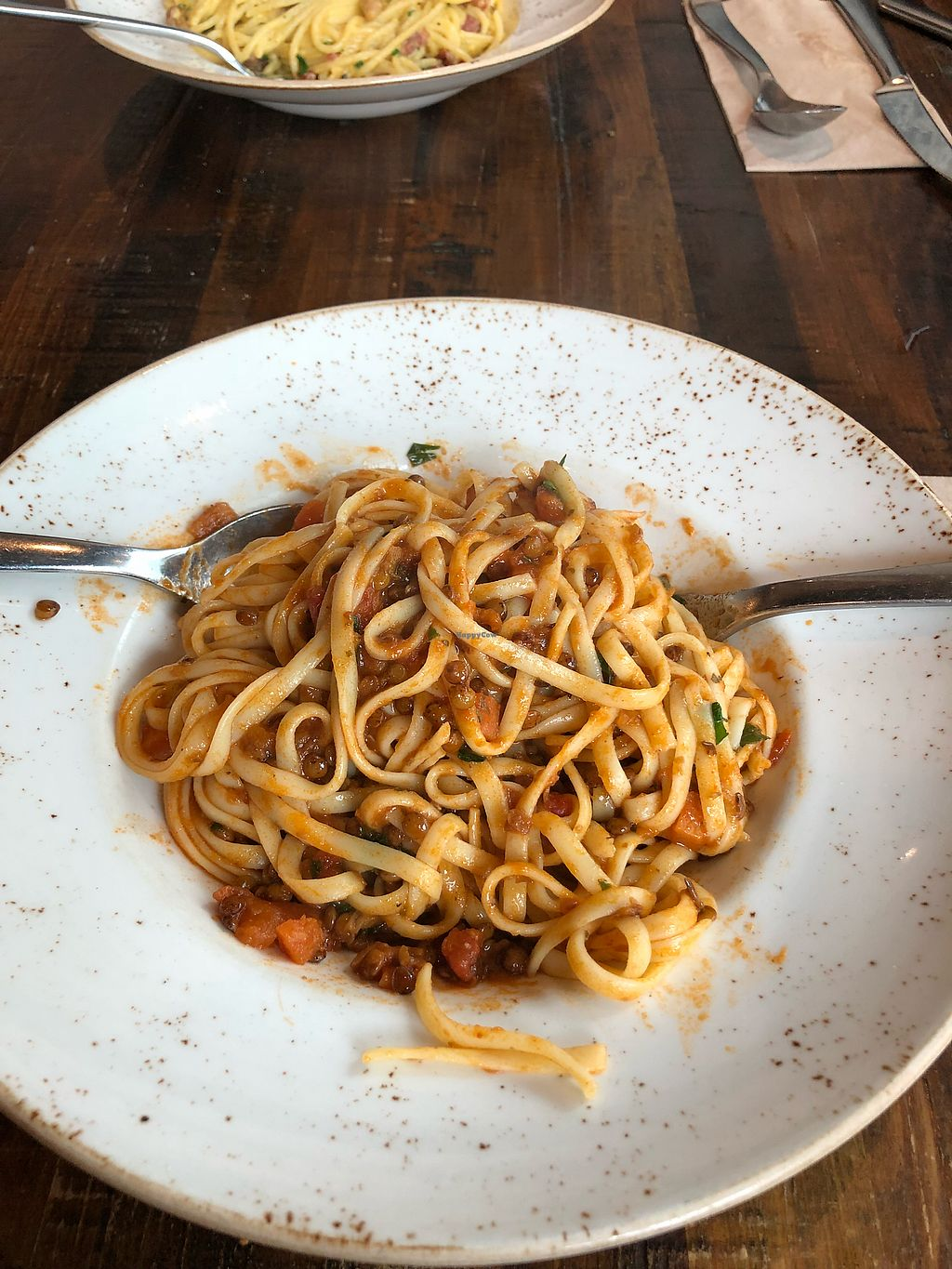 """Photo of Zizzi  by <a href=""""/members/profile/CourtneyK"""">CourtneyK</a> <br/>Lentil pasta <br/> April 12, 2018  - <a href='/contact/abuse/image/77580/384502'>Report</a>"""
