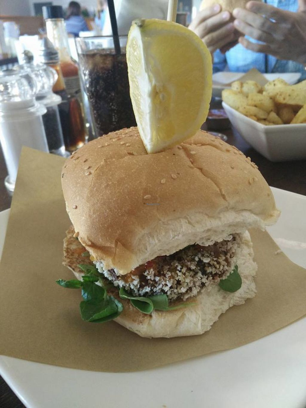 """Photo of CLOSED: Handmade Burger Company - Valley Centertainment  by <a href=""""/members/profile/Meaks"""">Meaks</a> <br/>Thai Vegan Burger <br/> July 30, 2016  - <a href='/contact/abuse/image/77646/163530'>Report</a>"""