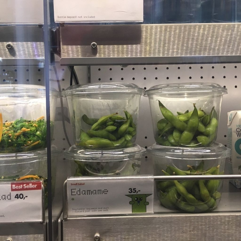 "Photo of Yo Sushi - Airport  by <a href=""/members/profile/veganmom"">veganmom</a> <br/>Edamame <br/> July 30, 2016  - <a href='/contact/abuse/image/77649/163552'>Report</a>"