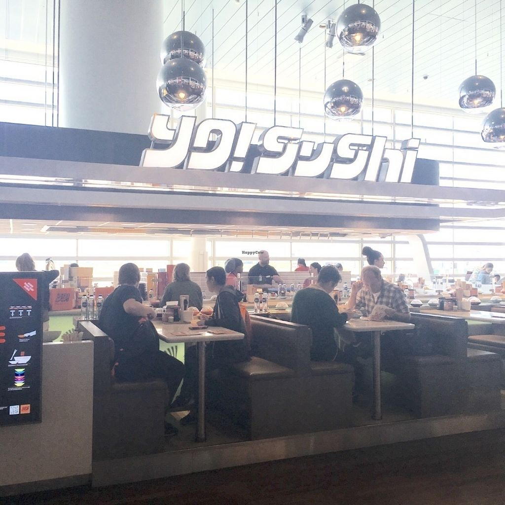 "Photo of Yo Sushi - Airport  by <a href=""/members/profile/veganmom"">veganmom</a> <br/>You find Yo! Sushi in terminal 3 <br/> July 30, 2016  - <a href='/contact/abuse/image/77649/163555'>Report</a>"