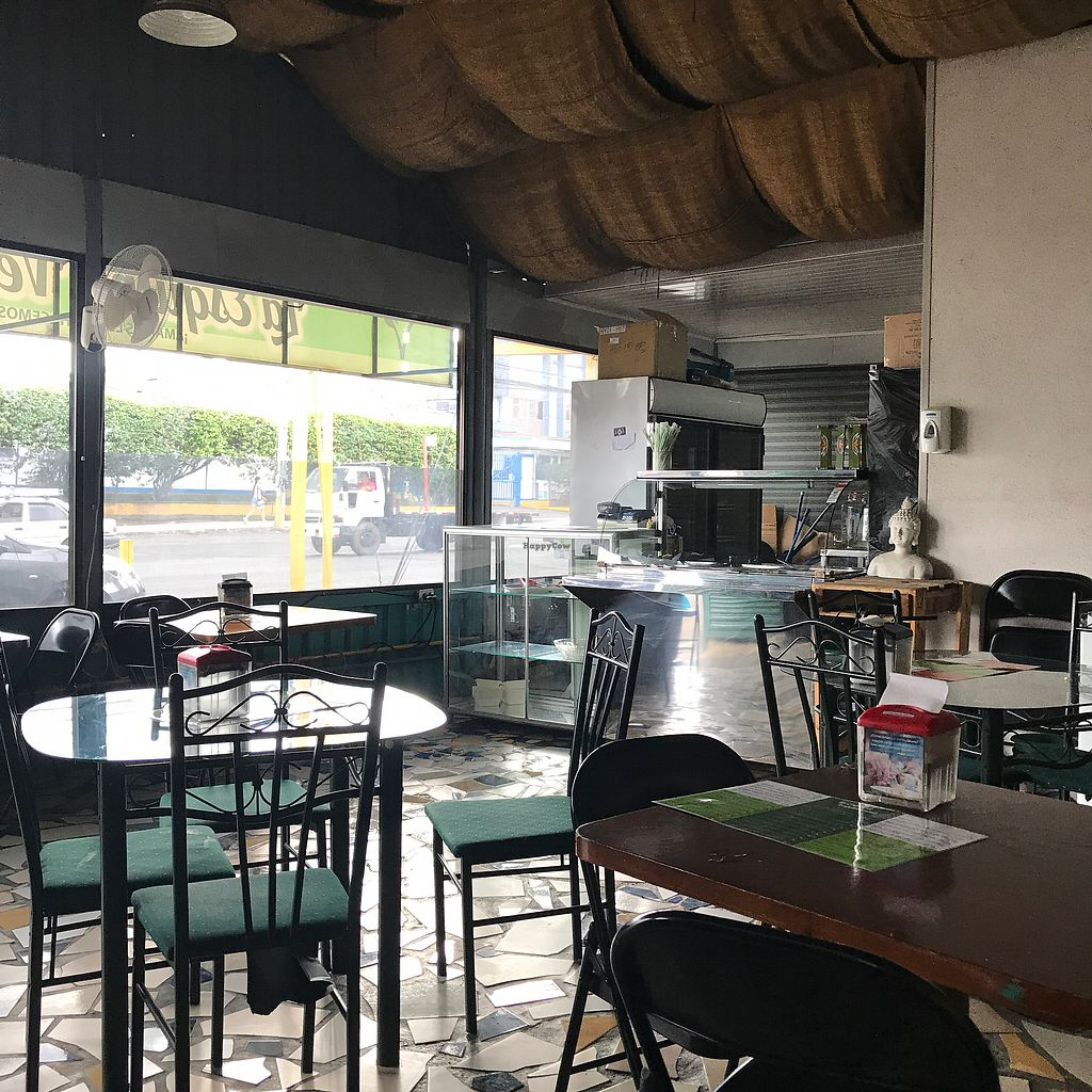 """Photo of La Esquina Vegetariana  by <a href=""""/members/profile/earthville"""">earthville</a> <br/>Dining room and counter <br/> January 11, 2018  - <a href='/contact/abuse/image/77658/345230'>Report</a>"""