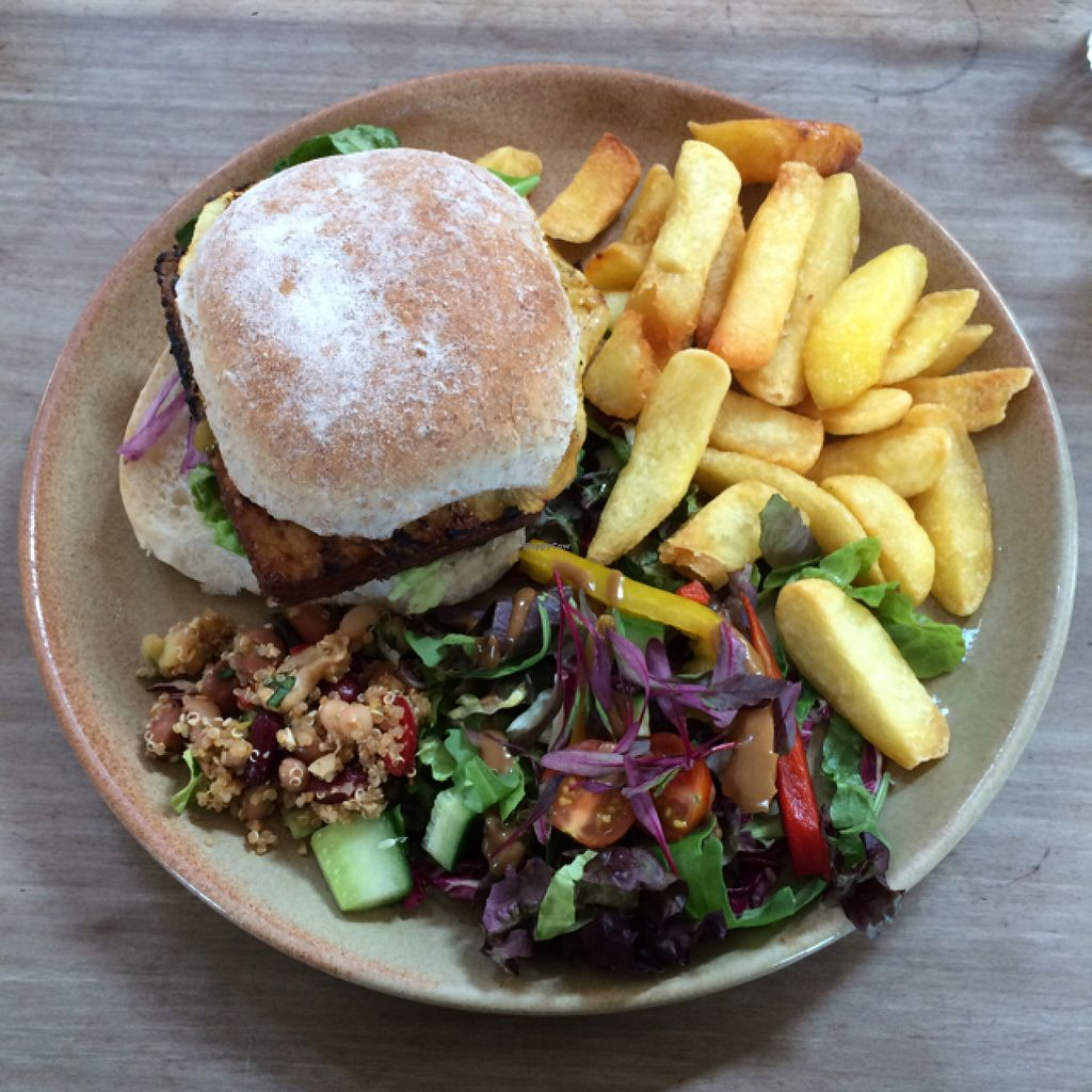 """Photo of Blue Sky Cafe  by <a href=""""/members/profile/LittleAliceFell"""">LittleAliceFell</a> <br/>Thai Tofu Burger <br/> July 30, 2016  - <a href='/contact/abuse/image/77671/163614'>Report</a>"""