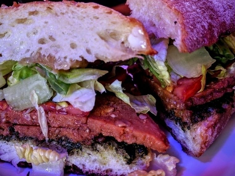 """Photo of Honeyhole Sandwiches  by <a href=""""/members/profile/The%20Hungry%20Vegan"""">The Hungry Vegan</a> <br/>Vegan Emilio Pestovez  <br/> September 18, 2016  - <a href='/contact/abuse/image/77679/176588'>Report</a>"""