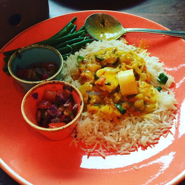 """Photo of Las Iguanas  by <a href=""""/members/profile/Claire86"""">Claire86</a> <br/>Lovely meal from the vegan menu..!  <br/> August 29, 2016  - <a href='/contact/abuse/image/77682/172125'>Report</a>"""