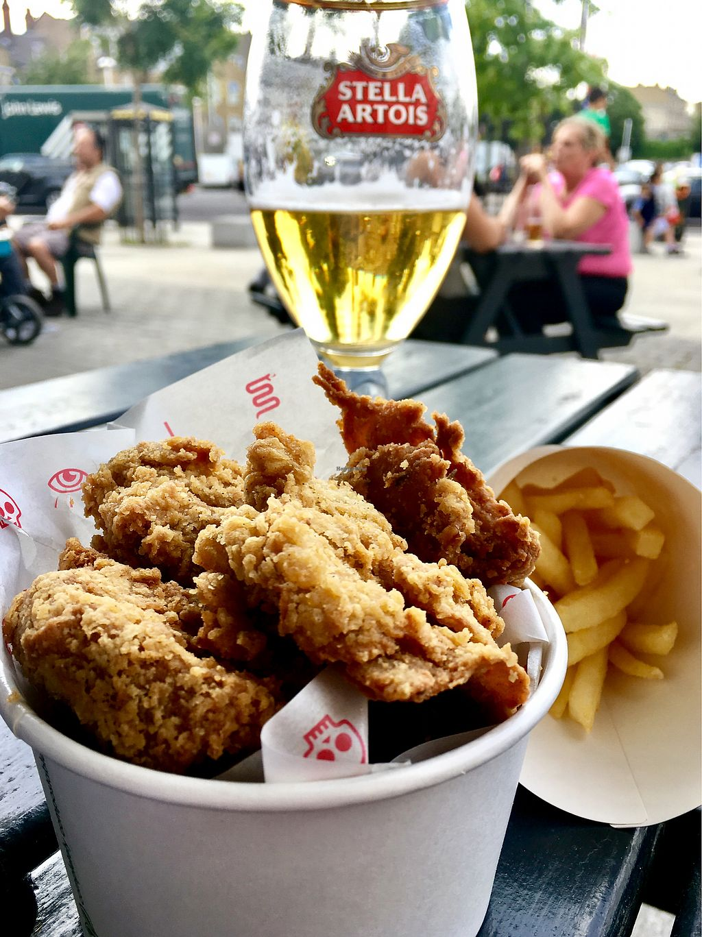 """Photo of Temple of Hackney  by <a href=""""/members/profile/milos99"""">milos99</a> <br/>popcorn """"chicken"""" and chips ... the Colonel should be afraid!!  <br/> July 13, 2017  - <a href='/contact/abuse/image/77702/279906'>Report</a>"""