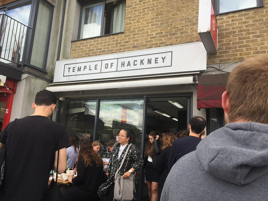 """Photo of Temple of Hackney  by <a href=""""/members/profile/Yasminesan"""">Yasminesan</a> <br/>Queues get long! <br/> October 29, 2017  - <a href='/contact/abuse/image/77702/319768'>Report</a>"""