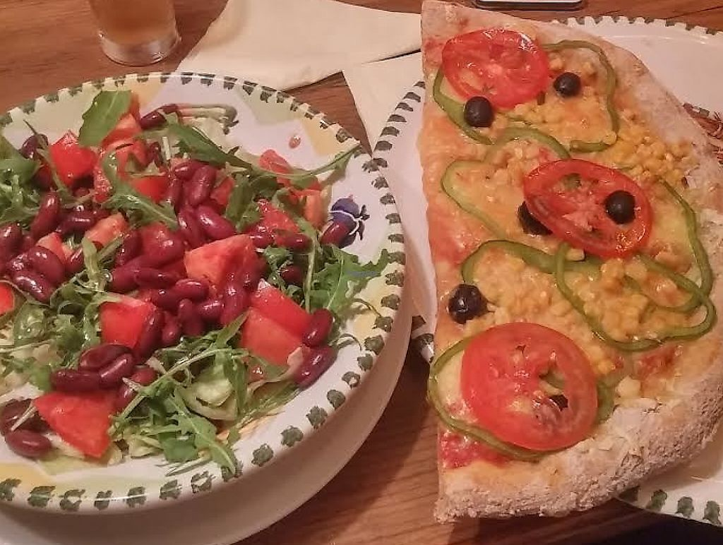 "Photo of La Cantina  by <a href=""/members/profile/annabelle.atkins"">annabelle.atkins</a> <br/>Vegan pizza and salad.  <br/> November 22, 2016  - <a href='/contact/abuse/image/77710/243845'>Report</a>"