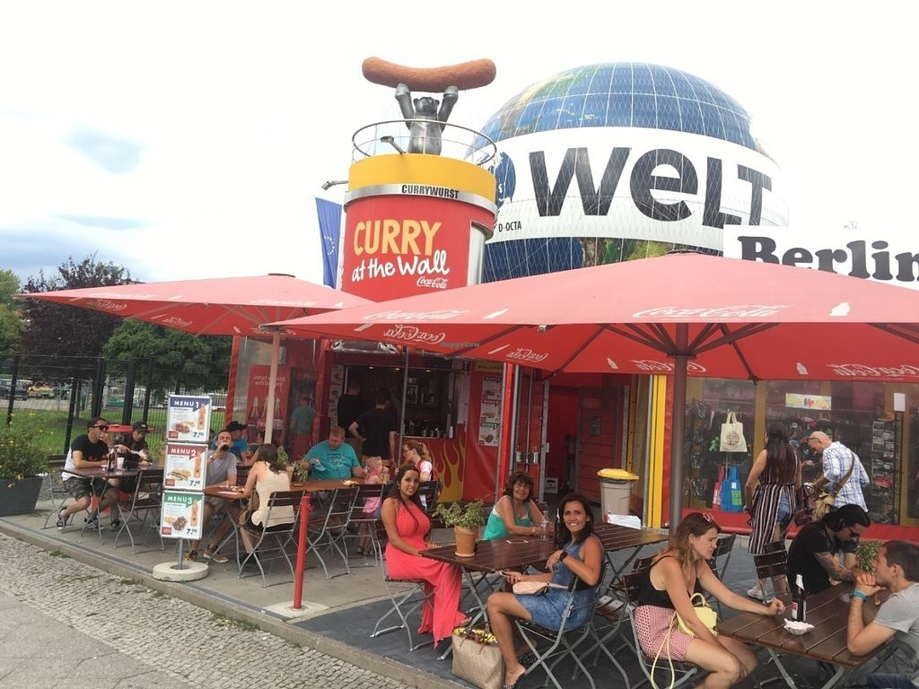 """Photo of Curry at the Wall - Food Stand  by <a href=""""/members/profile/RickC"""">RickC</a> <br/>Very nice outdoor seating area <br/> July 31, 2016  - <a href='/contact/abuse/image/77725/163959'>Report</a>"""