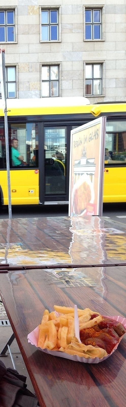 """Photo of Curry at the Wall - Food Stand  by <a href=""""/members/profile/avocado_jess"""">avocado_jess</a> <br/>Vegan currywurst and chips at outside seating <br/> December 26, 2017  - <a href='/contact/abuse/image/77725/339167'>Report</a>"""