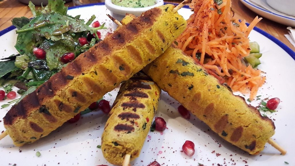 """Photo of Chesters by the River  by <a href=""""/members/profile/Veganolive1"""">Veganolive1</a> <br/>Butternut squash & chickpea kebabs <br/> February 12, 2017  - <a href='/contact/abuse/image/77732/225826'>Report</a>"""