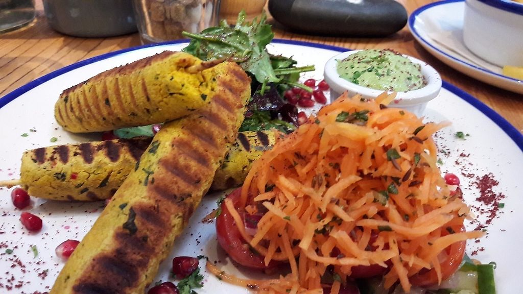 """Photo of Chesters by the River  by <a href=""""/members/profile/Veganolive1"""">Veganolive1</a> <br/>Butternut squash & chickpea kebabs <br/> February 12, 2017  - <a href='/contact/abuse/image/77732/225827'>Report</a>"""