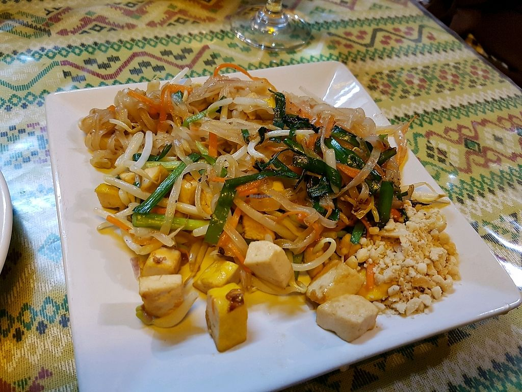 "Photo of Thai Muang Vegetarian Cooking Class  by <a href=""/members/profile/Wanderingvegan"">Wanderingvegan</a> <br/>Vegan Pad Thai. evening class 11.04.18 <br/> April 13, 2018  - <a href='/contact/abuse/image/77771/384988'>Report</a>"