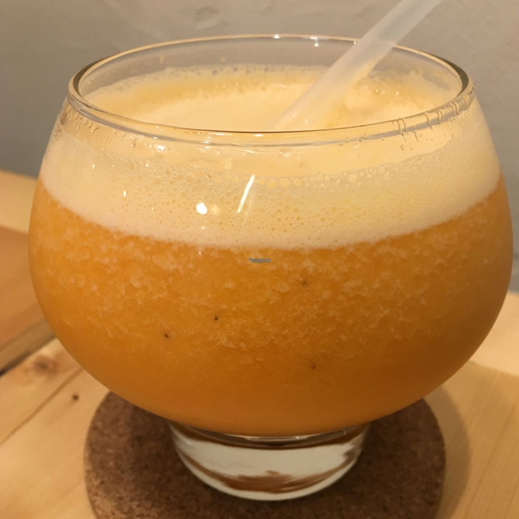 """Photo of CLOSED: Motto  by <a href=""""/members/profile/paulkates"""">paulkates</a> <br/>""""Yellow"""" vegan smoothie <br/> August 16, 2016  - <a href='/contact/abuse/image/77774/169178'>Report</a>"""