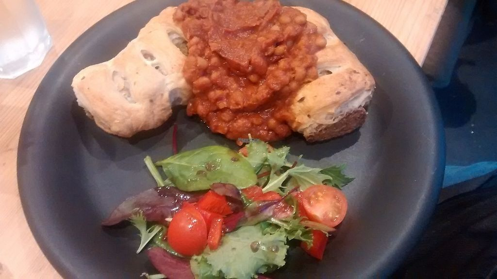 """Photo of Soy Division  by <a href=""""/members/profile/TrixieFirecracker"""">TrixieFirecracker</a> <br/>Sausage roll and beans <br/> January 8, 2017  - <a href='/contact/abuse/image/77783/209707'>Report</a>"""