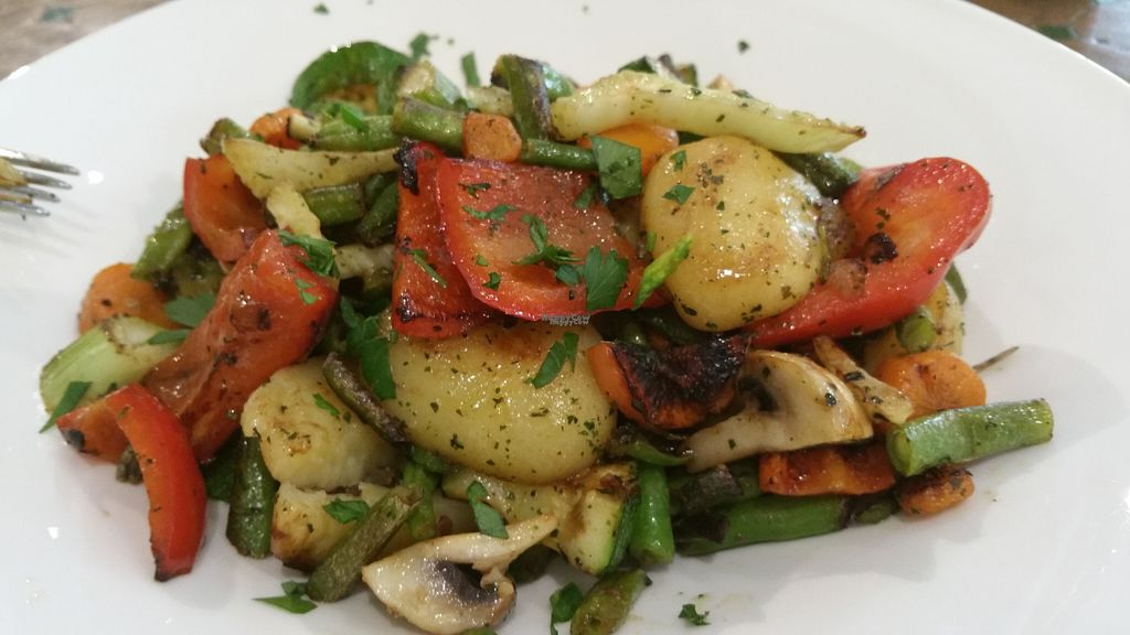 "Photo of Refugio  by <a href=""/members/profile/Mallorcatalks"">Mallorcatalks</a> <br/>The vegan mixed vegetable dish ! Tasty! <br/> August 10, 2016  - <a href='/contact/abuse/image/77788/167472'>Report</a>"