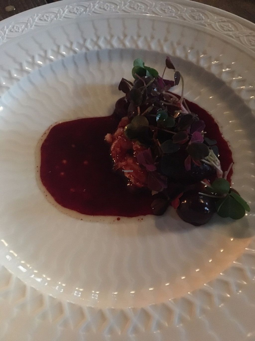 "Photo of Formel B  by <a href=""/members/profile/cuckooworld"">cuckooworld</a> <br/>Beetroot sauce with vegetables. Perhaps mashed potatos.  <br/> August 8, 2016  - <a href='/contact/abuse/image/77803/167016'>Report</a>"