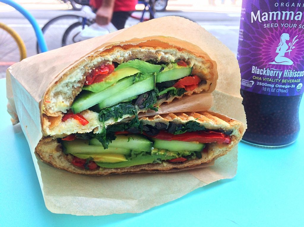 """Photo of CLOSED: The Panini Stop  by <a href=""""/members/profile/thePLURvegan"""">thePLURvegan</a> <br/>vegan panini  <br/> August 3, 2016  - <a href='/contact/abuse/image/77822/164779'>Report</a>"""