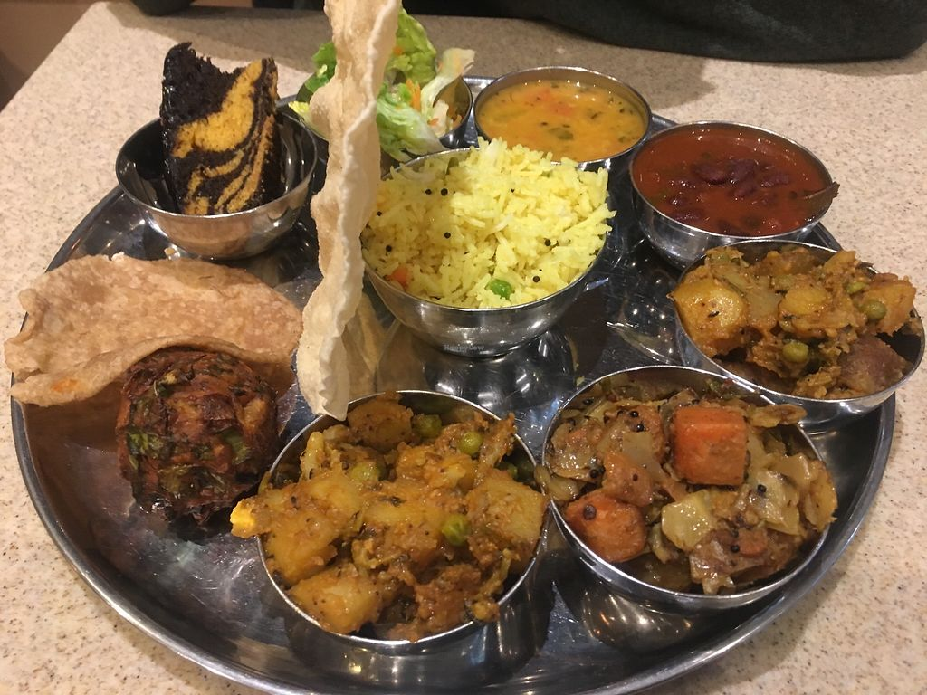 "Photo of Govinda's Pure Vegetarian Restaurant  by <a href=""/members/profile/Nanna"">Nanna</a> <br/>Vegan Thali <br/> January 26, 2018  - <a href='/contact/abuse/image/77826/351251'>Report</a>"