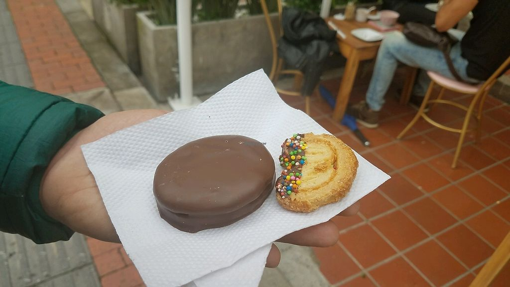 "Photo of Frambuesa Pastelería Vegan  by <a href=""/members/profile/RickiPoratKessler"">RickiPoratKessler</a> <br/>vegan alfajores and cookies <br/> March 24, 2018  - <a href='/contact/abuse/image/77829/375512'>Report</a>"